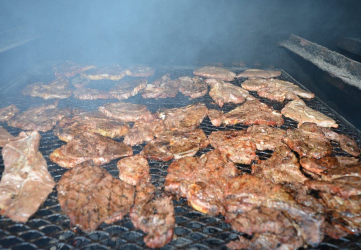 Steak being cooked at Piggly Wiggly Apalachicola, FL