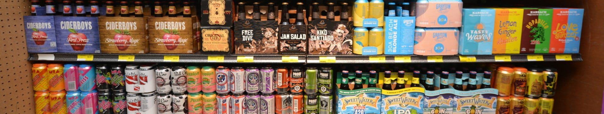 Variety of beers at the Apalachicola Piggly Wiggly