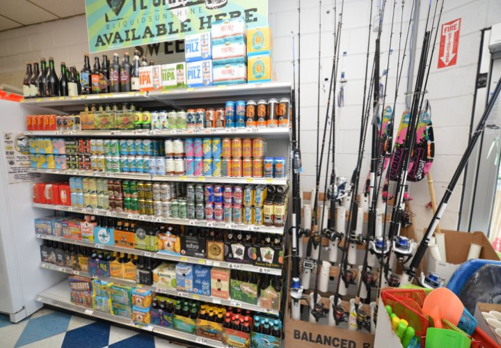 Piggly Wiggly Xpress Beer and Fishing Gear on St. George Island